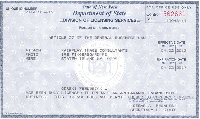 Nys Natural Hair License